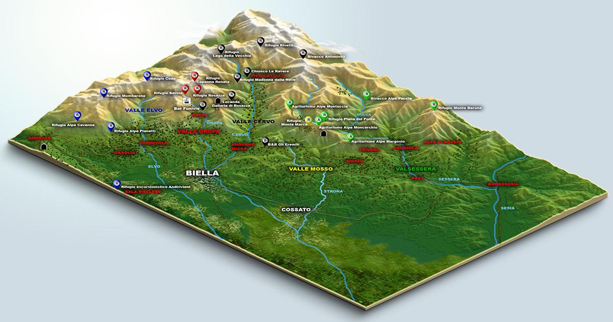 Cartina 3d Alpi.Cartina 3d Terrain Unico Livello Per Fb Alpibiellesi Com